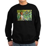 Basenji in Irises Sweatshirt (dark)