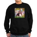 Basset in the Garden Sweatshirt (dark)