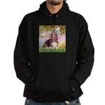 Basset in the Garden Hoodie (dark)