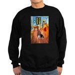 Room with a Basset Sweatshirt (dark)
