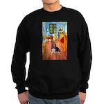 Room with a Basset Sweatshirt (dark)