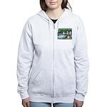 Sailboats & Basset Women's Zip Hoodie