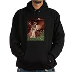 Seated Angel & Basset Hoodie (dark)