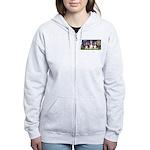 Starry Basset Women's Zip Hoodie
