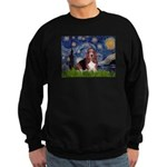 Starry / Basset Hound Sweatshirt (dark)