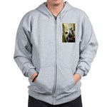 Pitcher / Bearded Collie Zip Hoodie