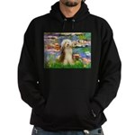 Lilies / Bearded Collie Hoodie (dark)