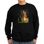 Fairies /Belgian Sheepdog Sweatshirt (dark)