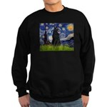 Starry Night /Belgian Sheepdog Sweatshirt (dark)