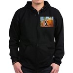 A Room with a Bernese Zip Hoodie (dark)