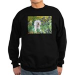 Irises and Bichon Sweatshirt (dark)