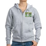 Irises and Bichon Women's Zip Hoodie