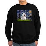 Starry Night Bichon Sweatshirt (dark)