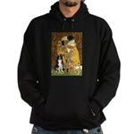 The Kiss & Border Collie Hoodie (dark)