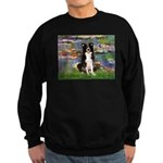 Lilies & Border Collie Sweatshirt (dark)