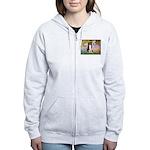 Garden & Border Collie Women's Zip Hoodie