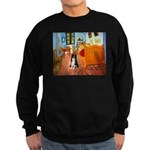 Room with Border Collie Sweatshirt (dark)