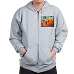 Room with Border Collie Zip Hoodie