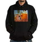 Room with Border Collie Hoodie (dark)