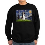 Starry Night Border Collie Sweatshirt (dark)