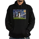Starry Night Border Collie Hoodie (dark)