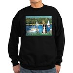 Sailboats & Border Collie Sweatshirt (dark)
