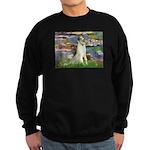 Borzoi in Monet's Lilies Sweatshirt (dark)