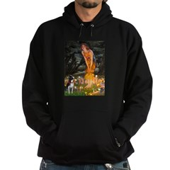 Fairies & Boston Terrier Hoodie (dark)