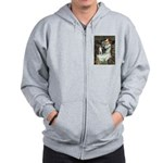 Ophelia & Boston Terrier Zip Hoodie