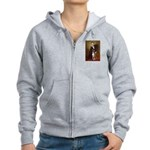 Lincoln & his Boxer Women's Zip Hoodie
