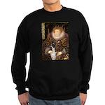 The Queen & her Boxer Sweatshirt (dark)