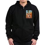 Room with a Boxer Zip Hoodie (dark)