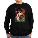 Seated Angel & Boxer Sweatshirt (dark)