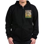 Spring with a Boxer Zip Hoodie (dark)