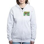 Irises/Brittany Women's Zip Hoodie