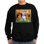 Angels & Bull Terrier #1 Sweatshirt (dark)