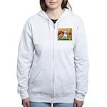 Angels & Bull Terrier #1 Women's Zip Hoodie