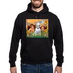 Angels & Bull Terrier #1 Hoodie (dark)