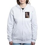 Ophelia / Bull Ter Women's Zip Hoodie