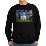 Starry/Bull Terrier (#4) Sweatshirt (dark)