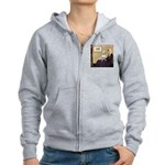 Mom's Bull Terrier (#1) Women's Zip Hoodie