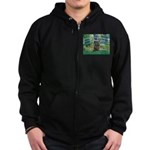 Bridge /Cairn Terrier (w) Zip Hoodie (dark)