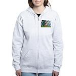 Lilies & Chihuahua Women's Zip Hoodie