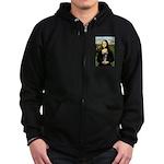 Mona Lisa / Chihuahua Zip Hoodie (dark)