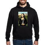 Mona Lisa / Chihuahua Hoodie (dark)