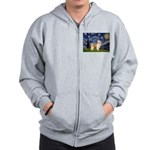 Starry/Puff Crested Zip Hoodie