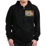 Garden / Chinese Crested Zip Hoodie (dark)