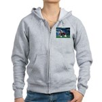 Lilies / Chinese Crested Women's Zip Hoodie