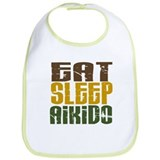 Eat Sleep Aikido Bib