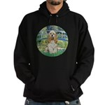 Bridge / Cocker Spaniel (buff) Hoodie (dark)